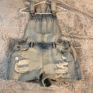 Forever 21 Overall Shorts 28